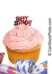愉快, 生日,  Cupcake