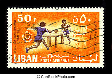 Postage stamp - LEBANON-CIRCA 1978:A stamp printed in...