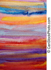 Watercolor bright hand painted art background for scrapbooking design, created by me