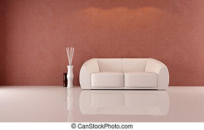 white couch - minimalist living room with elegant white sofa...