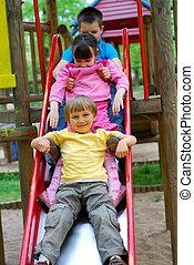 Children on Slide