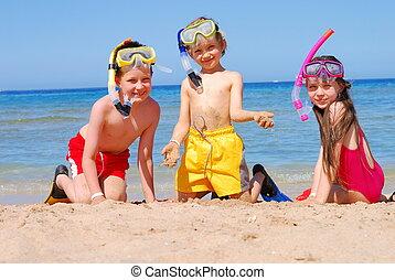Nadadores, feliz