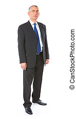 Portrait of business man - Full body image of mature...