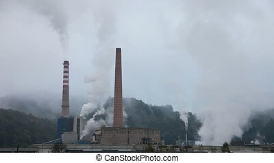 Industry Pollution in nature