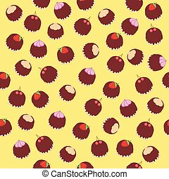 seamless background with cakes