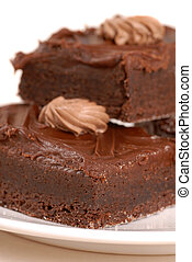 Chocolate fudge brownies - Freshly baked chocolate fudge...