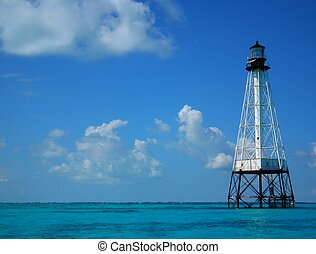 Alligator Reef Lighthouse, 6 miles off shore from...