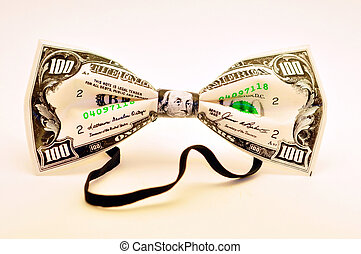 Bow-tie - A funny bow-tie of 100 dollar