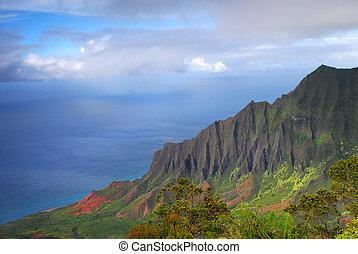 Napali coast, Kauai, Hawaii - Dramatic view of the Napali...