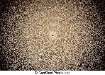 Dome of the mosque, oriental ornaments from Samarkand,...