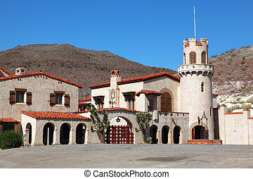 Scotty's Castle in Death Valley in the USA. The magnificent...