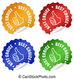 Best choice stickers set