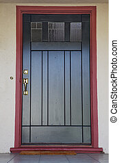 Black door burgundy trim