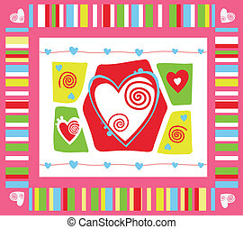Valentines day background - Valentines day abstract...