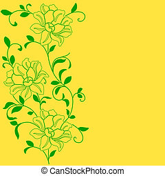 hand drawn background with a fantasy flower