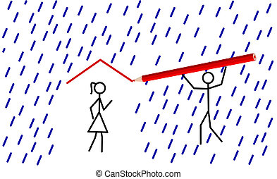 Stickman provides shelter for hisher love - Stickman...