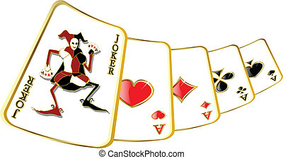 vector joker - the abstract vector joker on play card