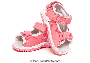 Red child's sandals