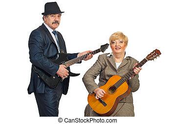 Mature musicians band