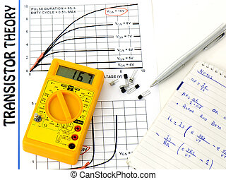 Study transistors - Yellow multimeter, study the transistor...