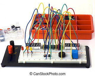 Electronic circuits DIY - Electronic circuit on a breadboard...