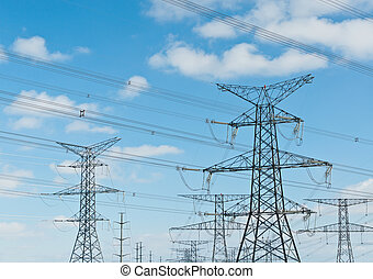 Electrical Transmission Towers (Electricity Pylons) - A long...