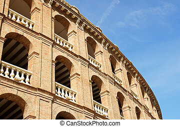 Plaza de toros in Valencia - Detail of Plaza de toros...