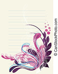 floral background in soft purple