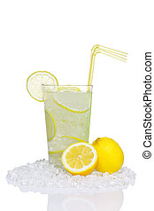 Lemonade in glass isolated - Photo of traditional lemonade...