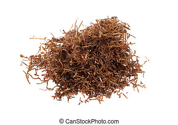 Macro of tobacco isolated on a white background