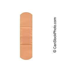 Bandaid - A band aid isolated against a white background