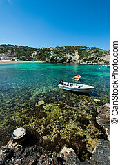The beautiful coast of Ibiza, Cala Vadella Ibiza Spain