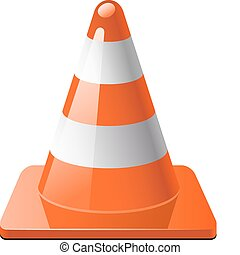 Traffic cone izolated over white EPS 8, AI, JPEG
