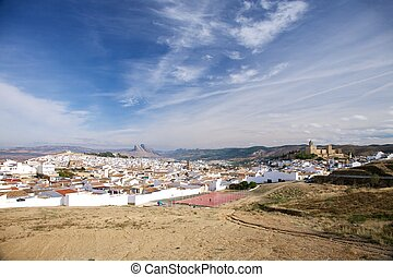 Antequera city at Andalucia in Spain