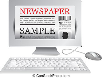 Online newspaperComputer and news website - Online newspaper...