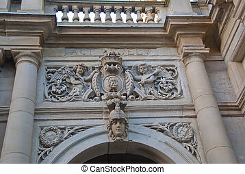 Detail on Town Hall - Architectural Detail on Town Hall in...