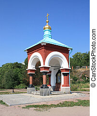 Chapel of an icon of sacred Maria on island Valaam