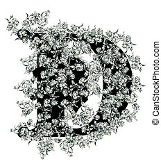 "Letter ""D"". - Luxuriously illustrated old capital letter D..."