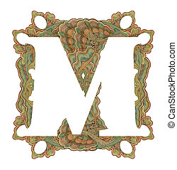 Letter quot;Mquot; - Luxuriously illustrated old capital...