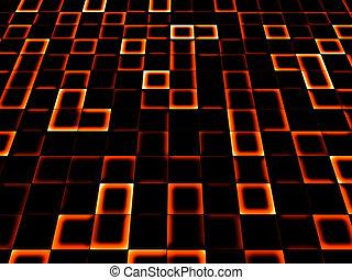neon tile background