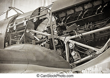WW2 fighter - vintage style image of a WW2 fighter plane...
