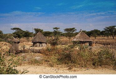 Chozas, etiopía