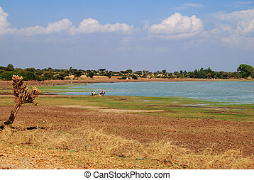 Ethiopian lake - Lake along awash river in Ethiopia