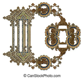 "Letter ""D"". - Luxuriously illustrated old capital letter D."