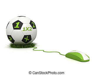 betting online - conceptual image of football betting on...