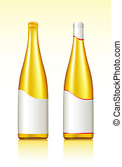 Wine Bottle - illustration of wine bottles on gradient...