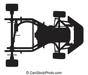 Karting Car Vector