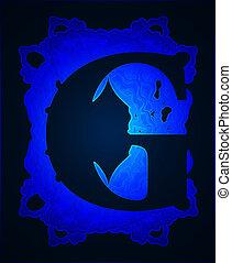 Letter quot;Gquot; - Neon capital letter G