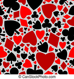 Playing cards symbols pattern - Playing cards symbols...