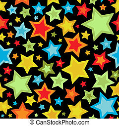 Colorful stars seamless pattern - Seamless pattern with...